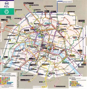 Mapa bus Paris